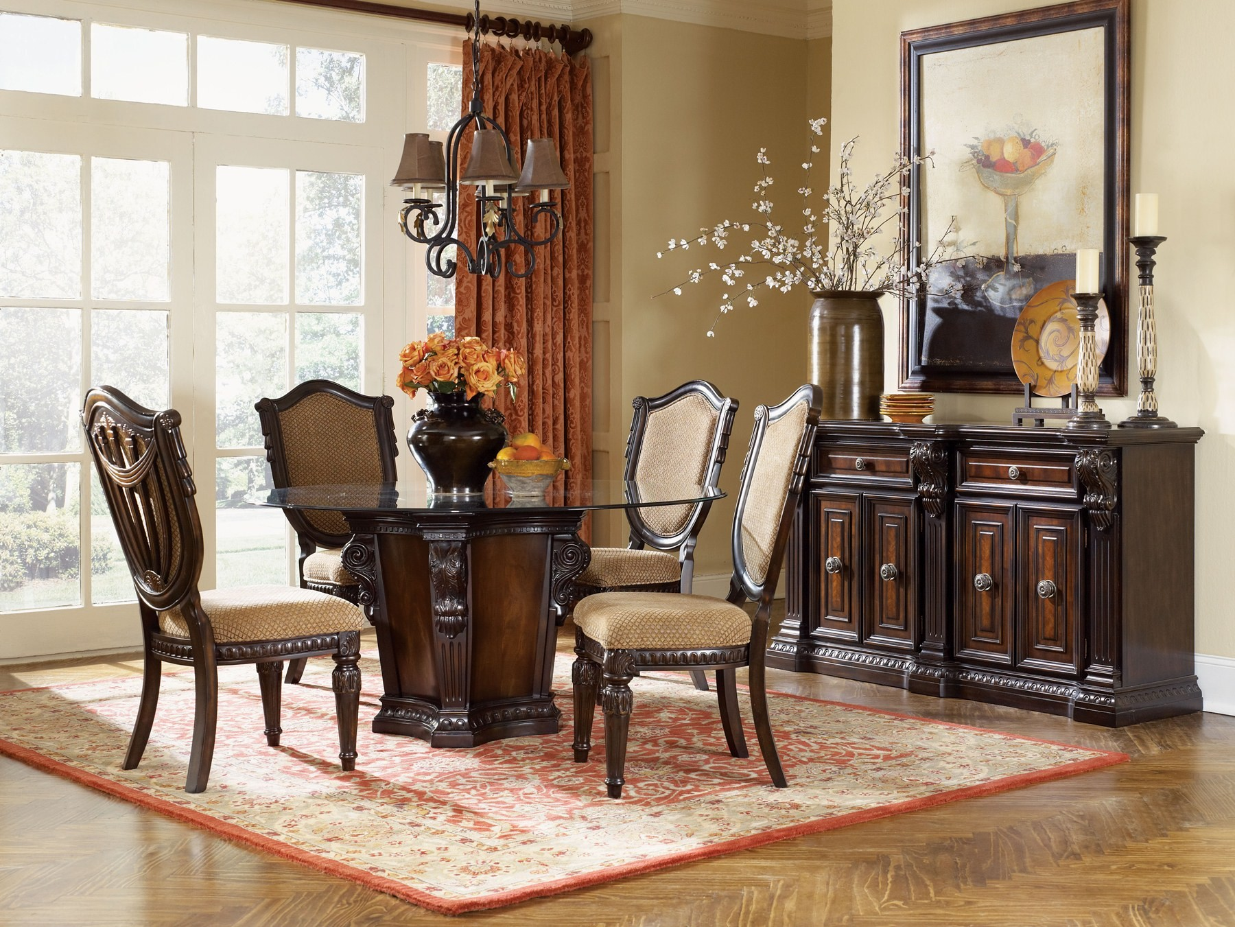 Image of: round upholstered accent chairs