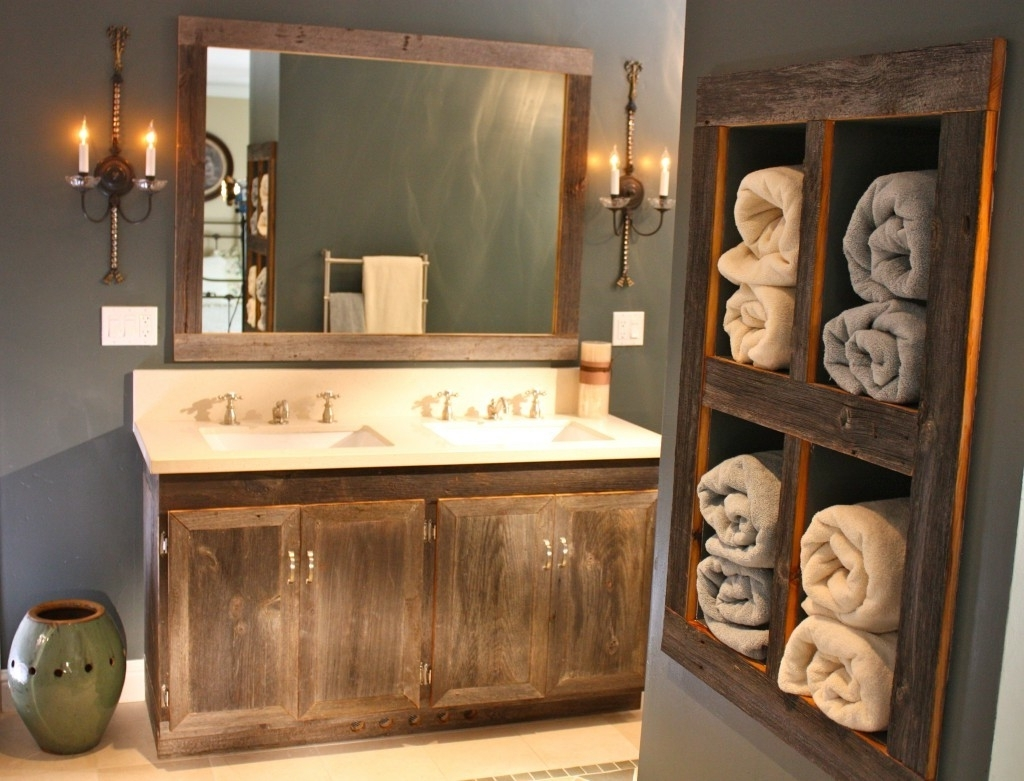 Rustic Bathroom Mirrors Ideas