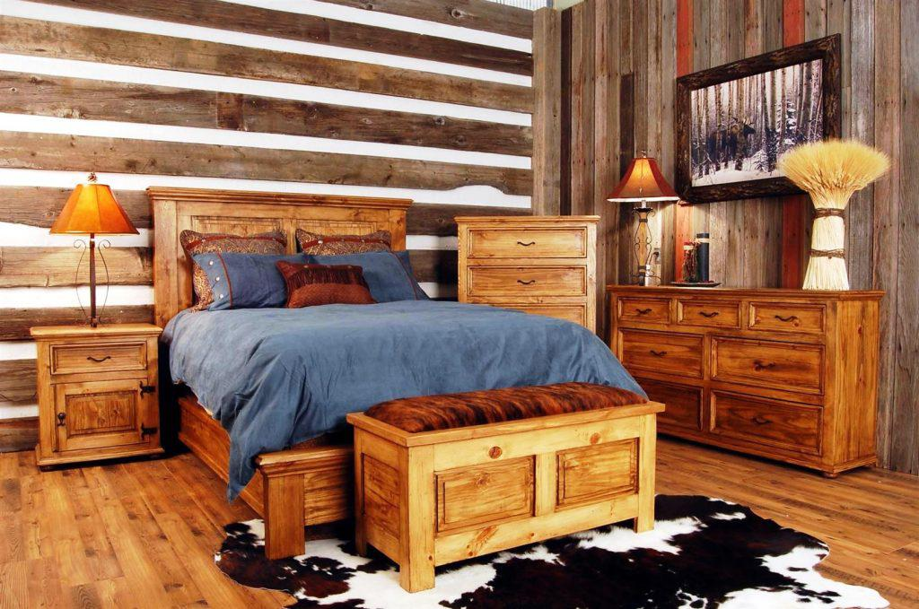 Image of: Rustic Bedroom Furniture For Sale