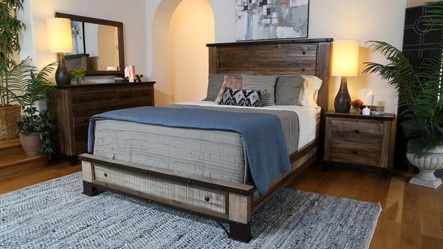 Image of: The Rustic Bedroom Furniture Sets King