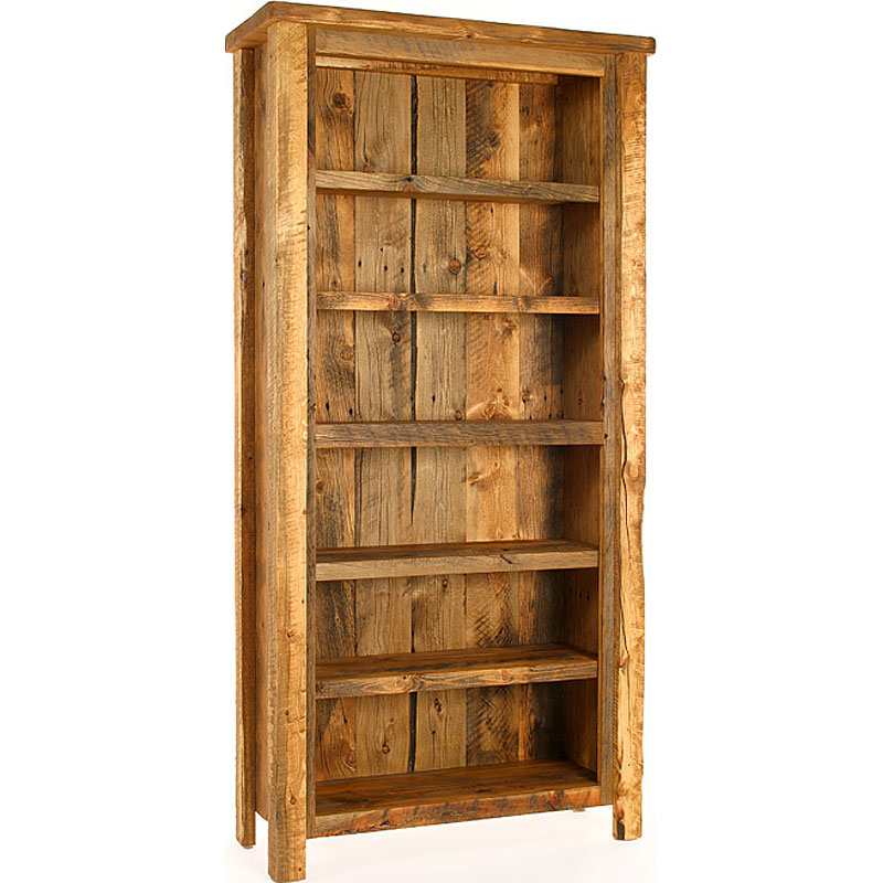Image of: Rustic Bookcase  Large Rustic Bookcase