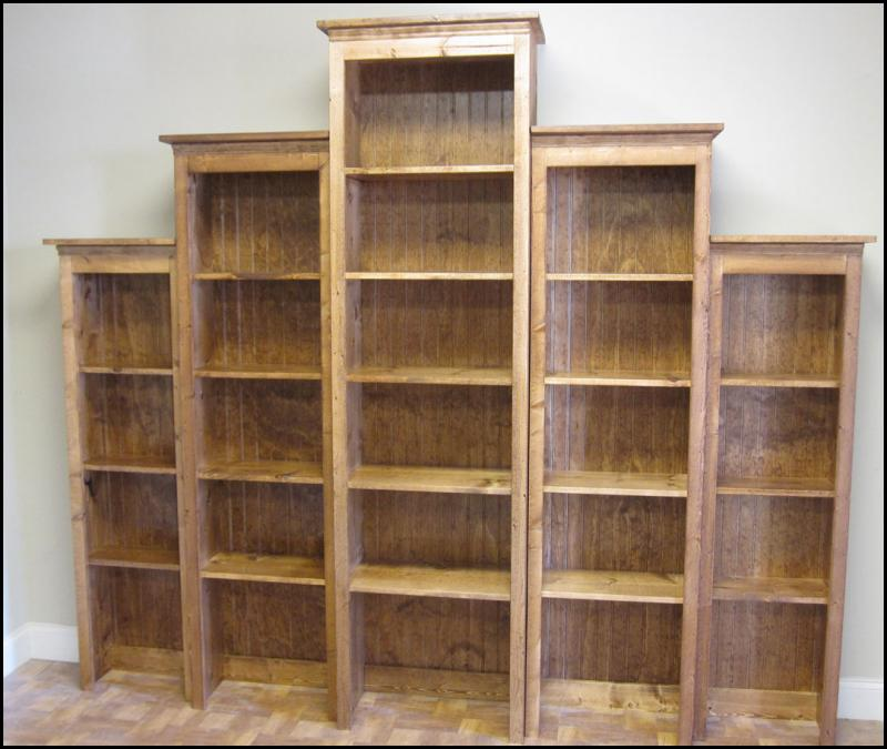 Image of: Rustic Bookcase bring
