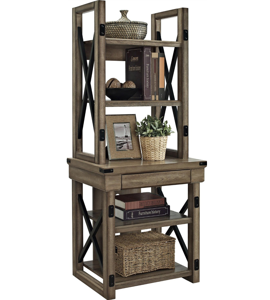 Image of: Rustic Bookcase  guest