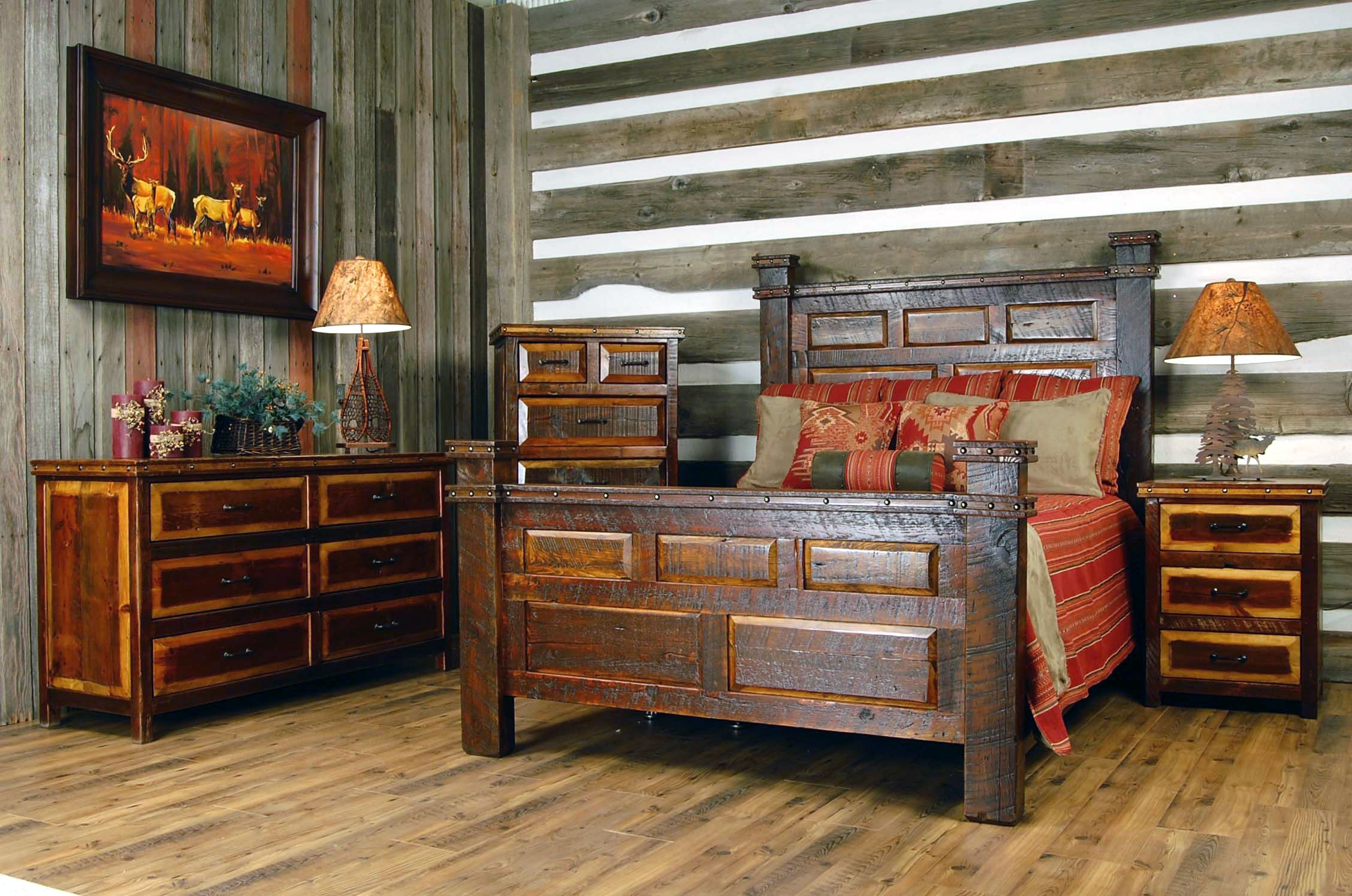 Image of: The Rustic Cabins Bedroom Decorating Ideas