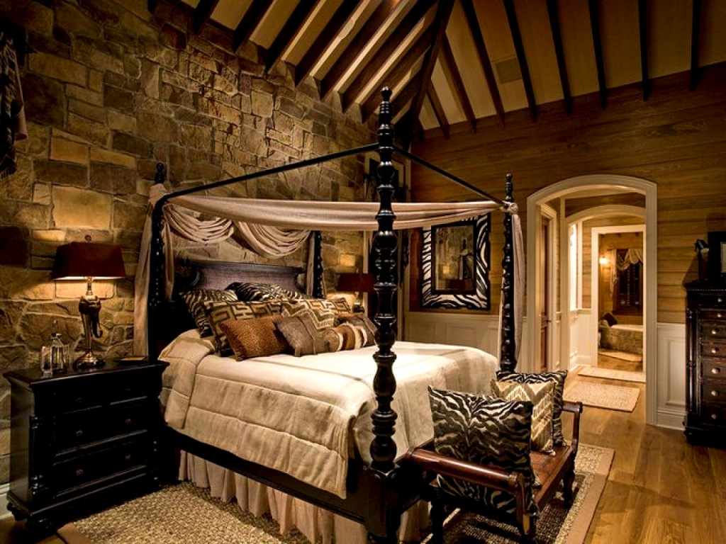 Image of: Rustic Cabins Bedroom Decorating Ideas