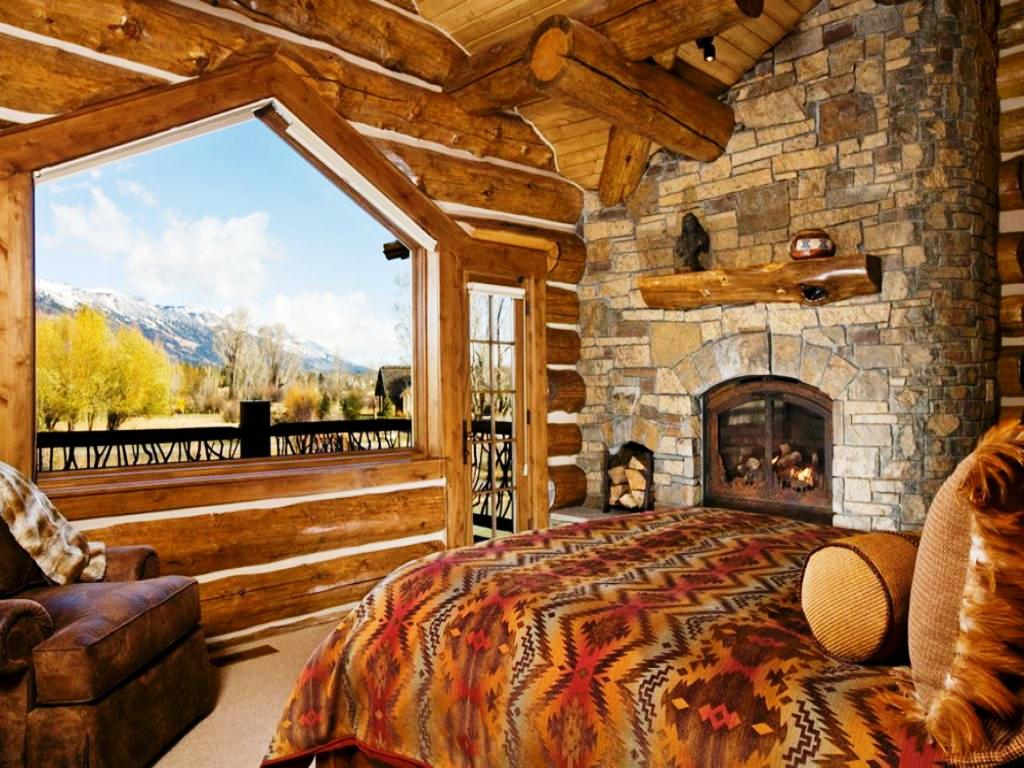 Image of: Rustic Cabin Bedroom Ideas