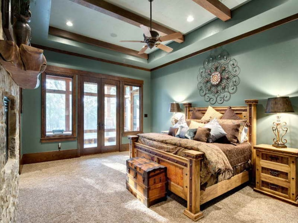 Image of: The Rustic Country Bedroom Decorating Ideas