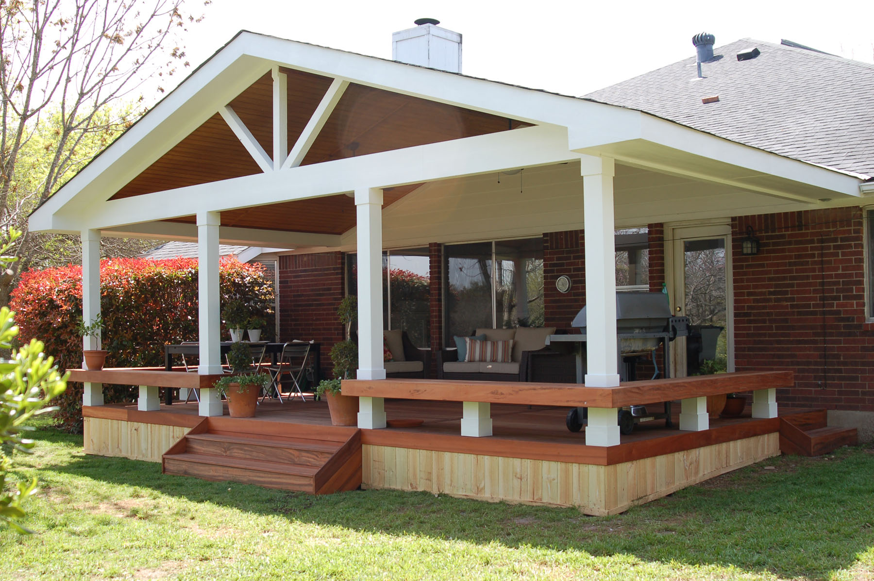 Rustic Covered Deck Designs