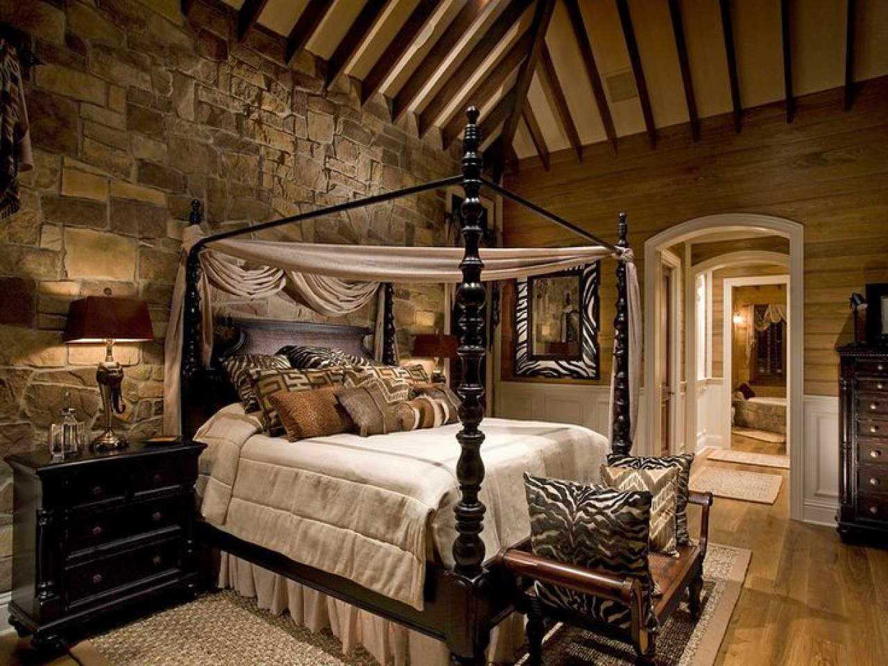 Image of: Rustic Master Bedroom Decorating Ideas Images