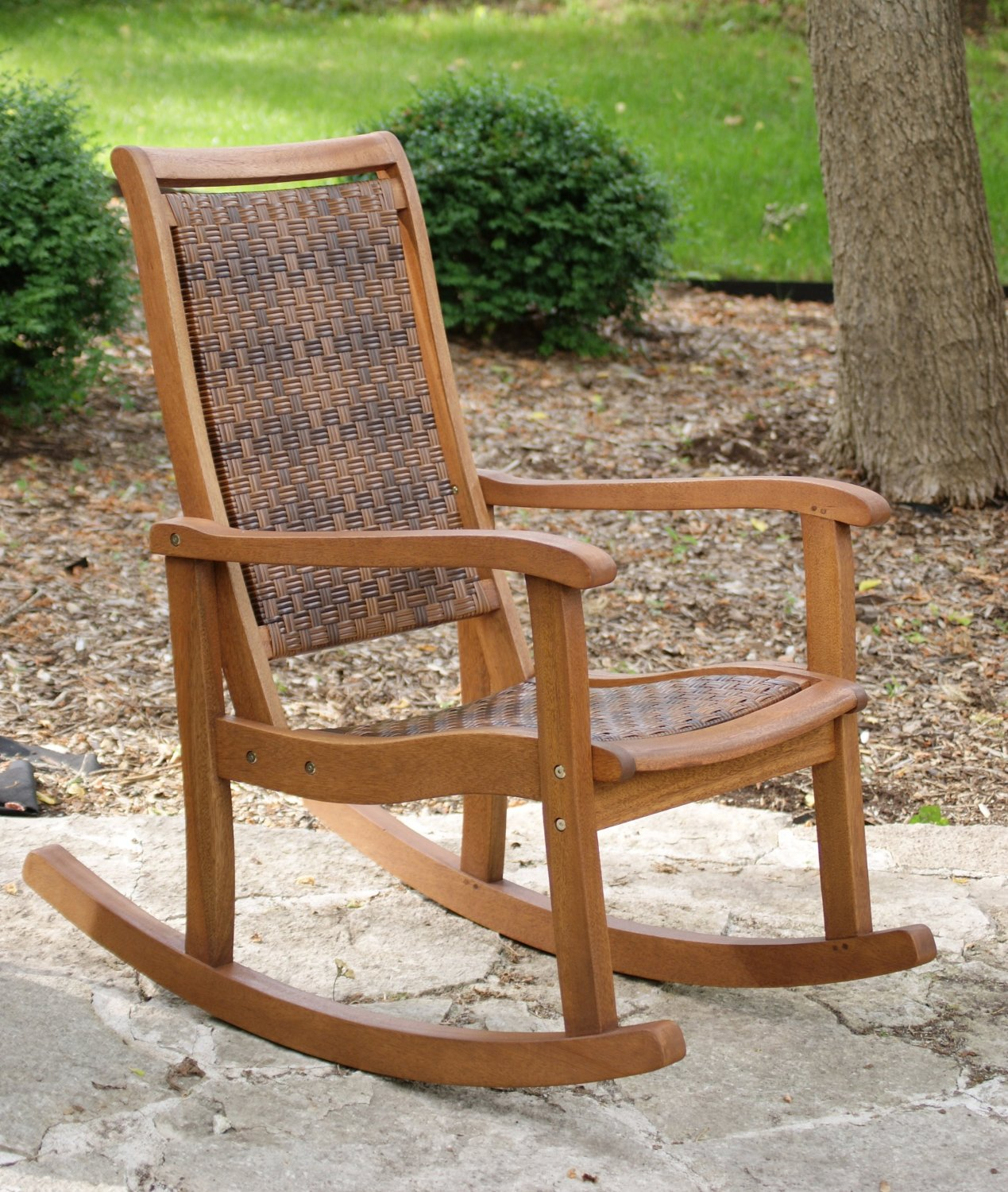 Image of: Rustic Porch Rocking Chair
