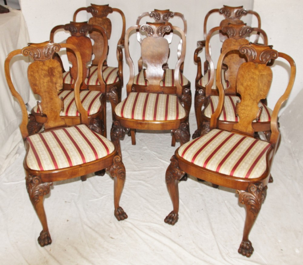 Image of: Rustic Queen Anne Dining Chairs