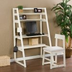 Rustic White Ladder Bookcase 2015