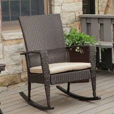 Image of: Rustic Wicker Rocking Chair