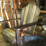 rustic wooden adirondack chairs