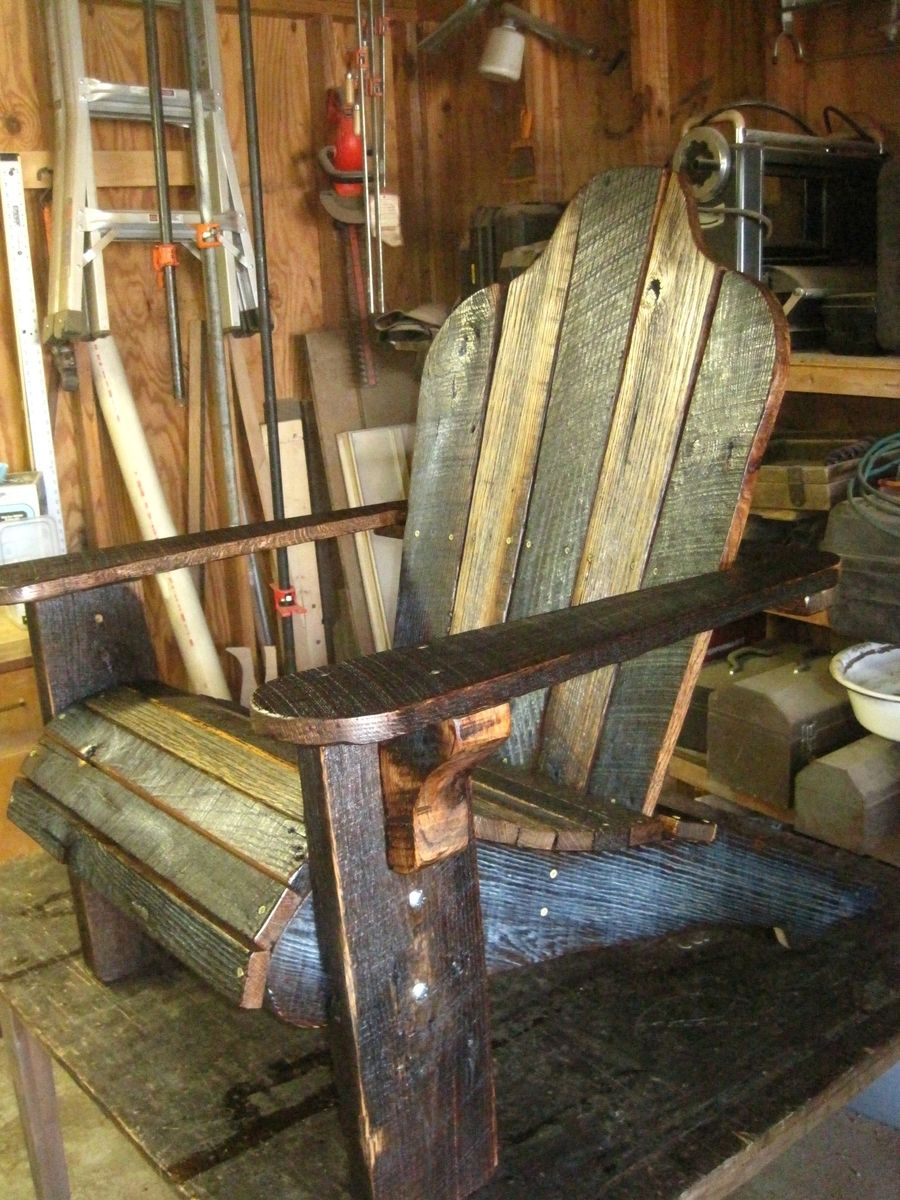 Image of: rustic wooden adirondack chairs