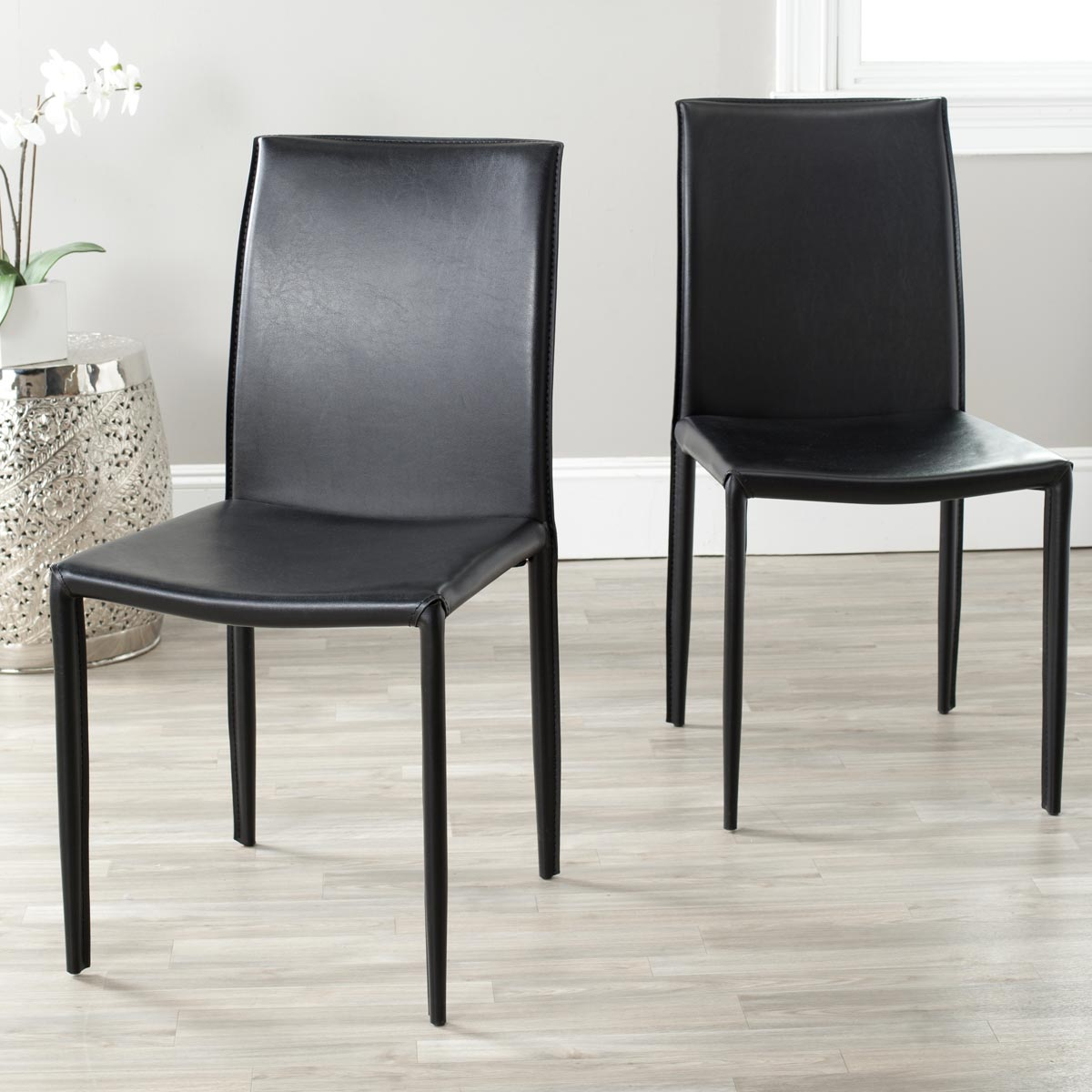 Image of: Safavieh Dining Chairs Black