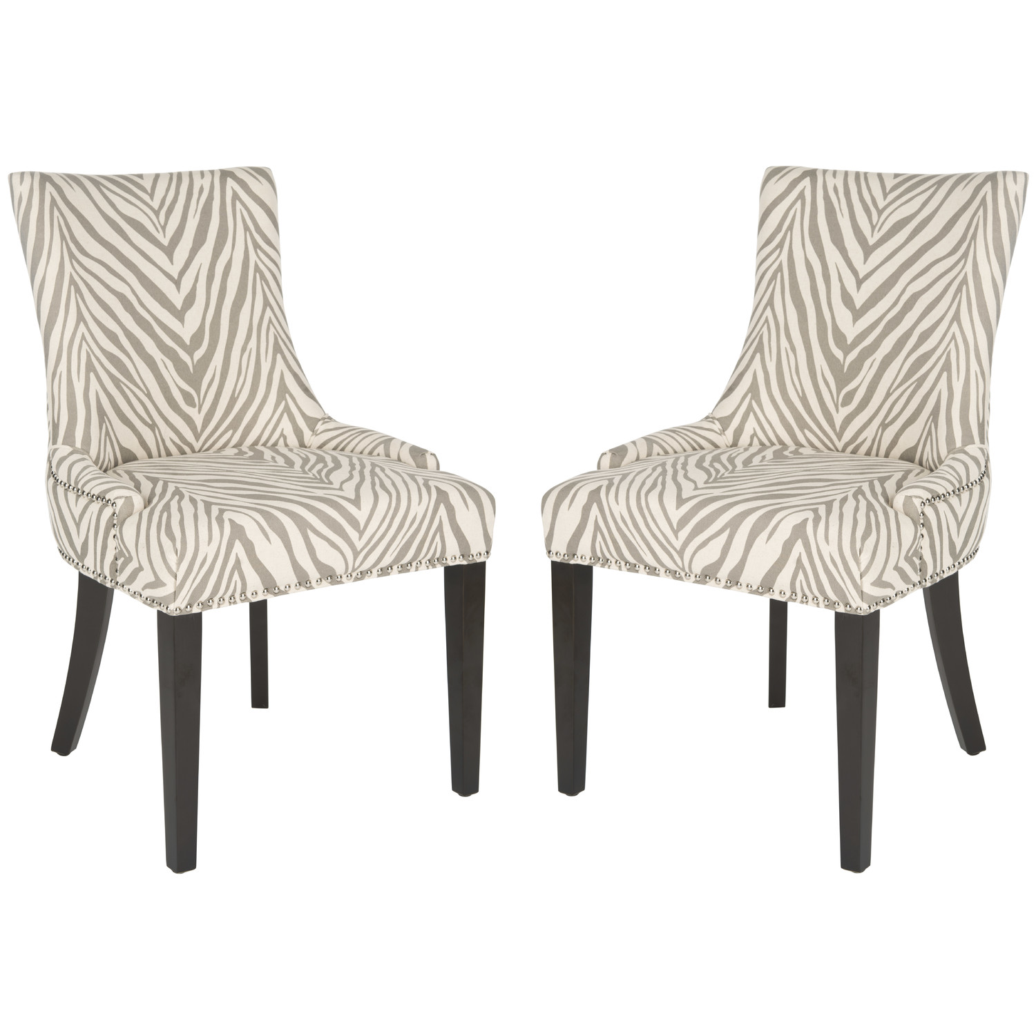 Image of: Safavieh Dining Chairs Zebra Print