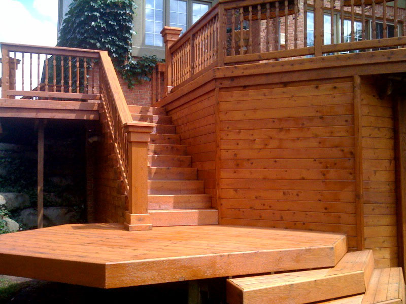 Image of: Semi Transparent Deck Stain Stair