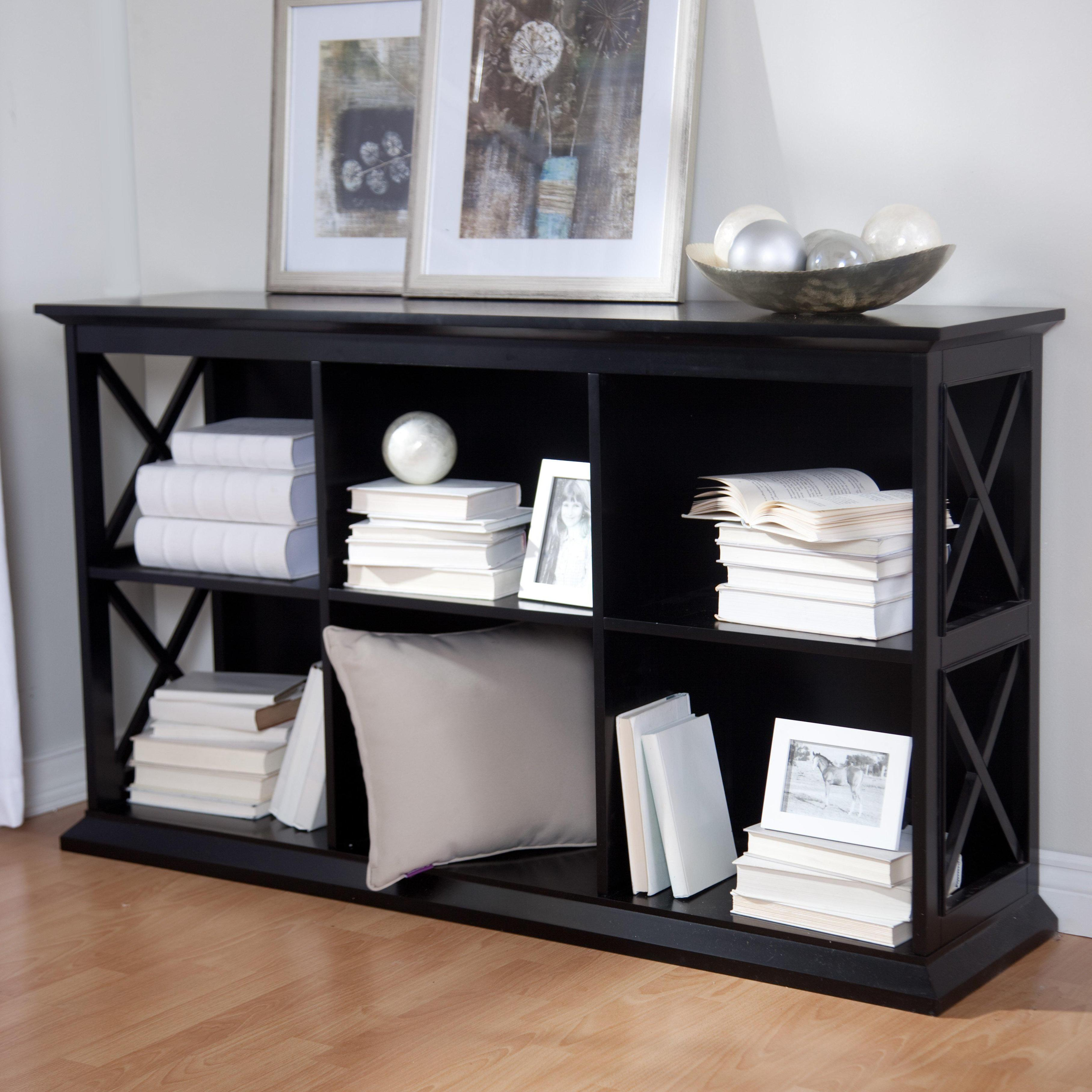 Image of: Short Black Bookcase