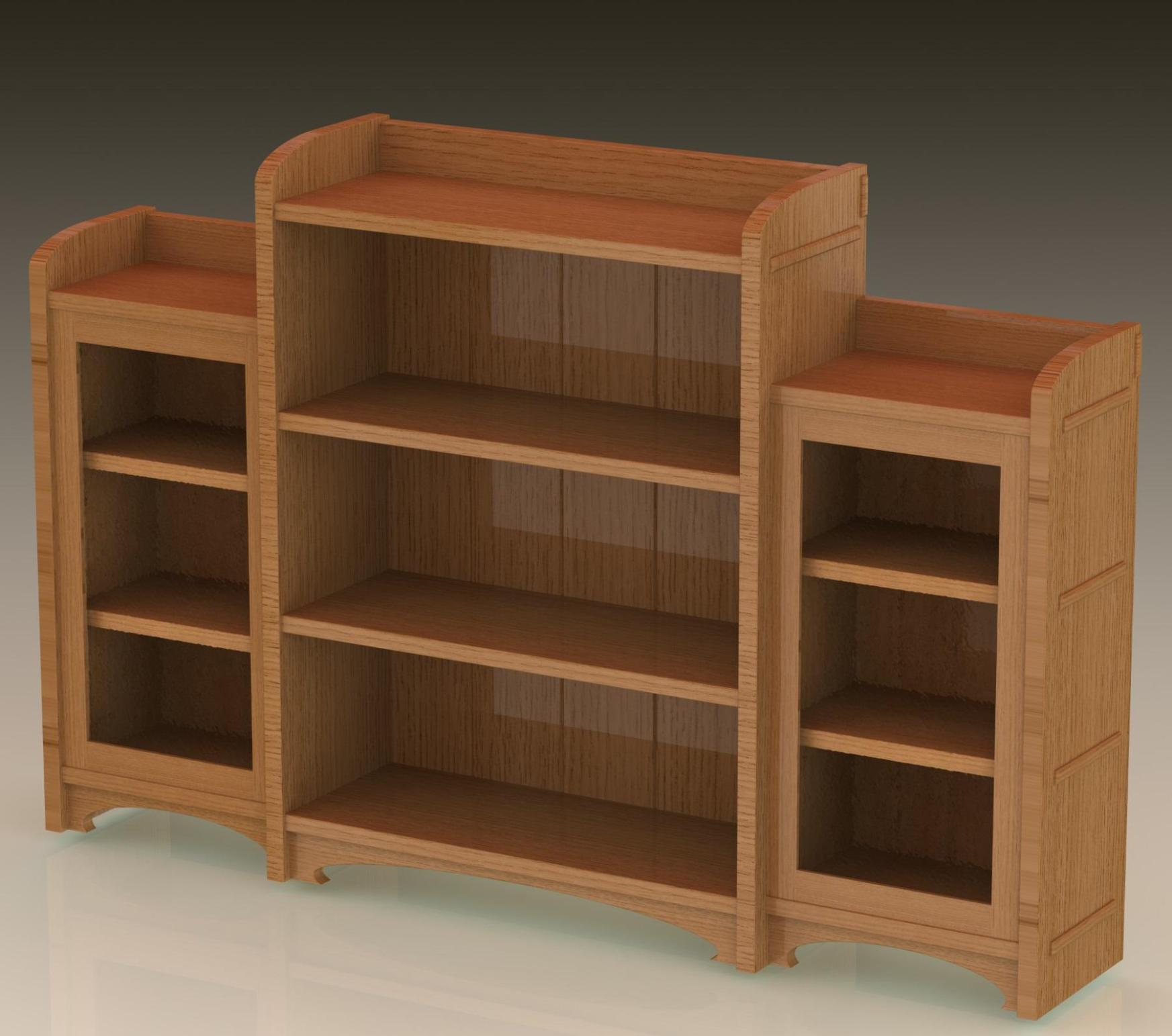 Image of: Short Long Bookcase