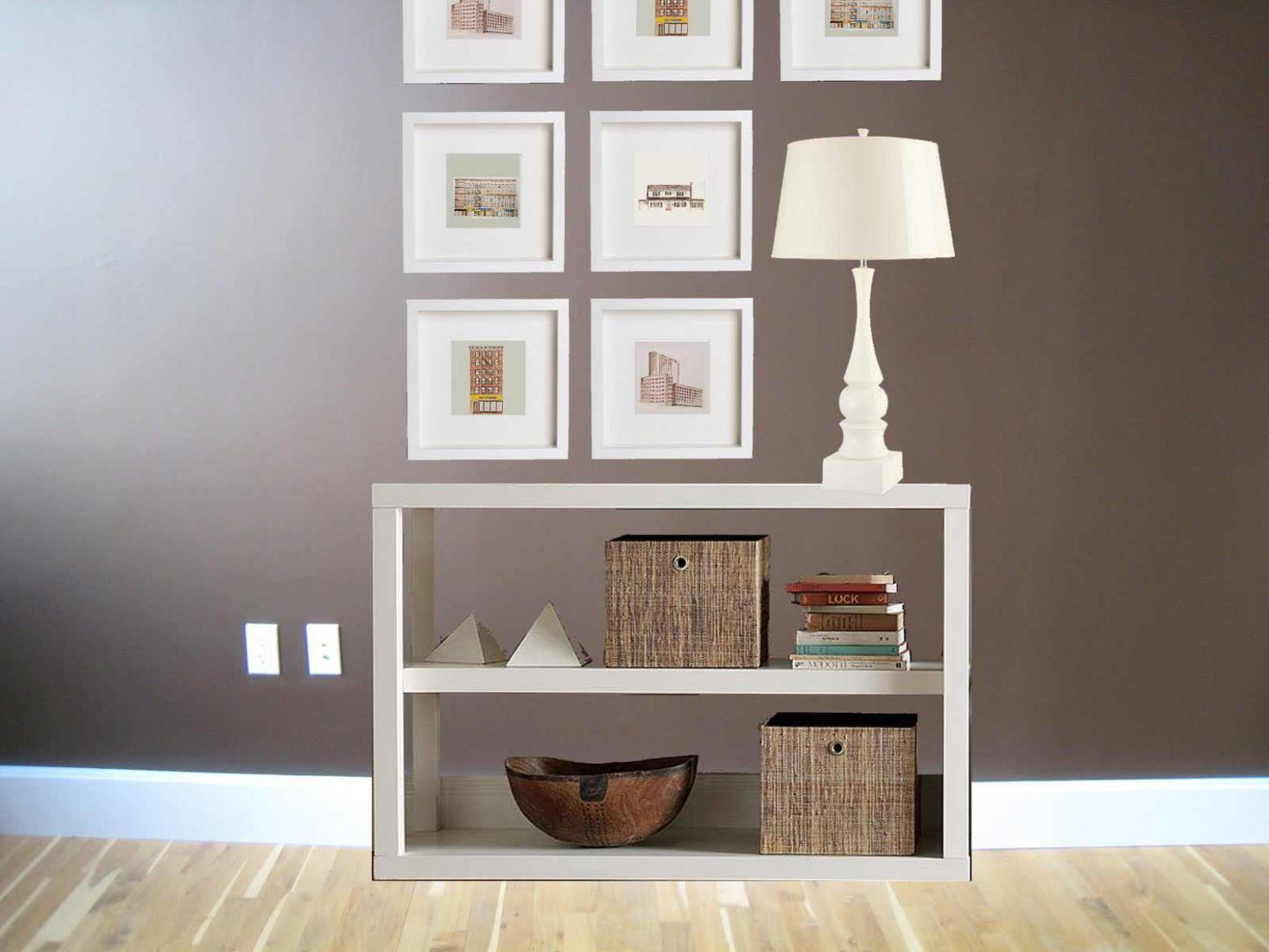 Image of: Short White Bookcase