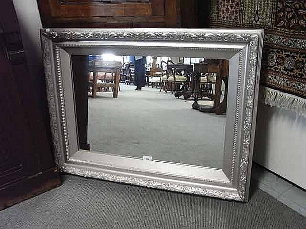 Image of: Silver Framed Mirror Bronze