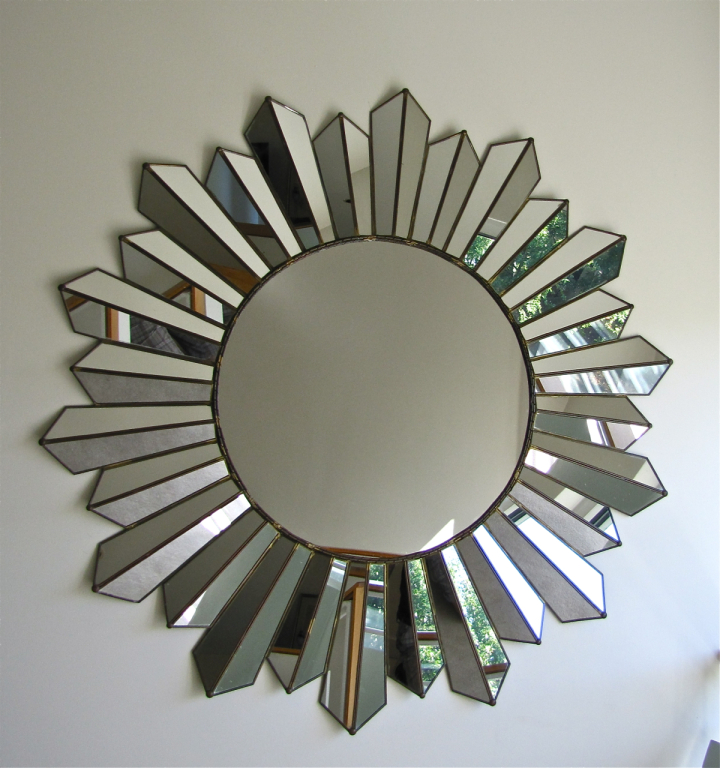 Image of: Silver Sunburst Wall Mirror
