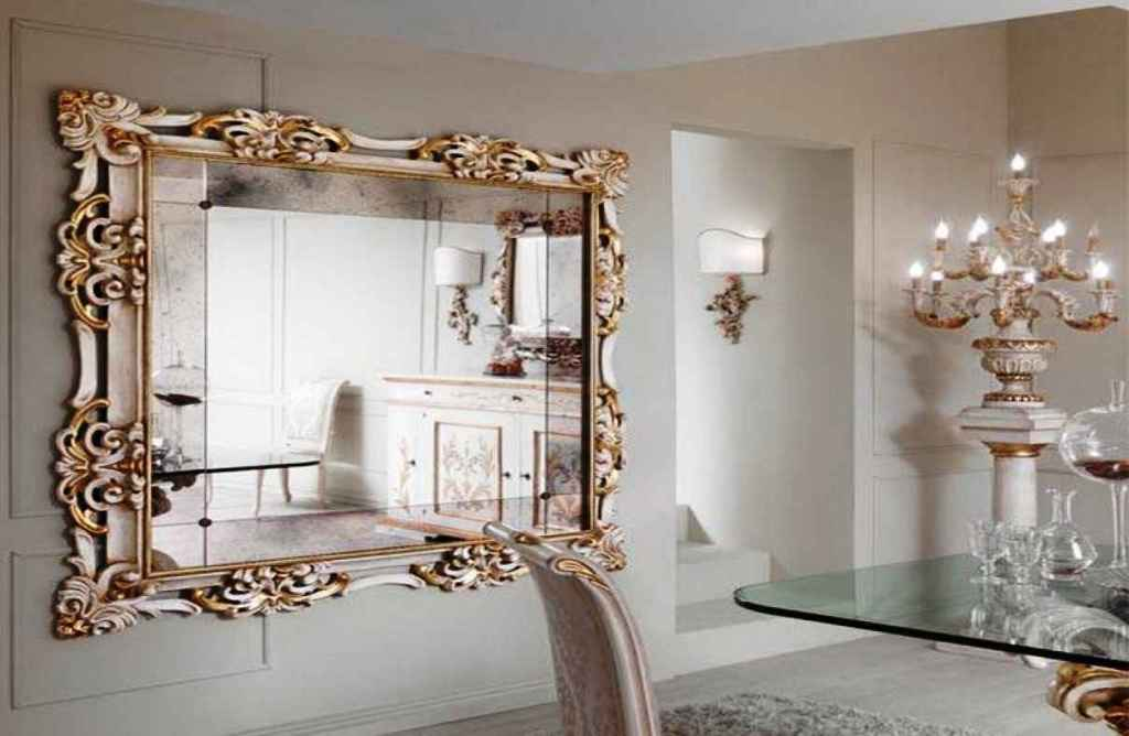 Image of: Silver and Gold Wall Mirror