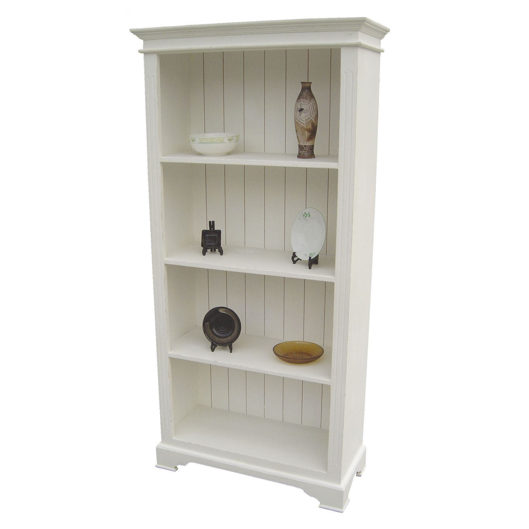Image of: Simple Antique White Bookcase