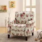 Simple Floral Accent Chair