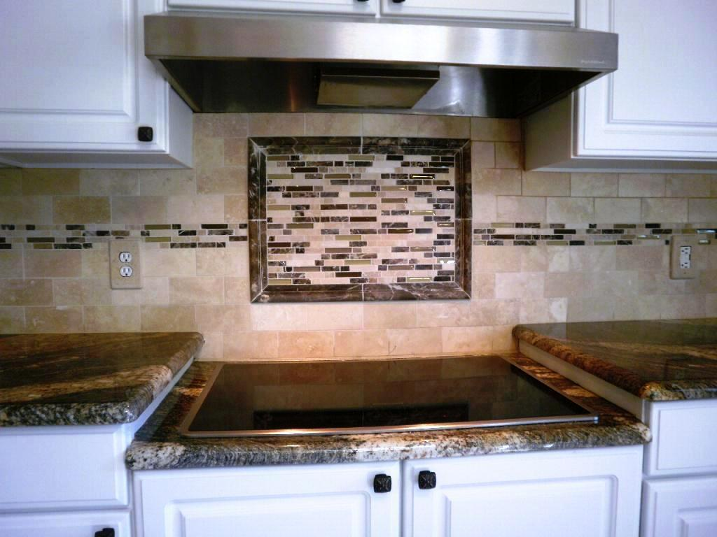 Image of: simple glass tile backsplash pictures