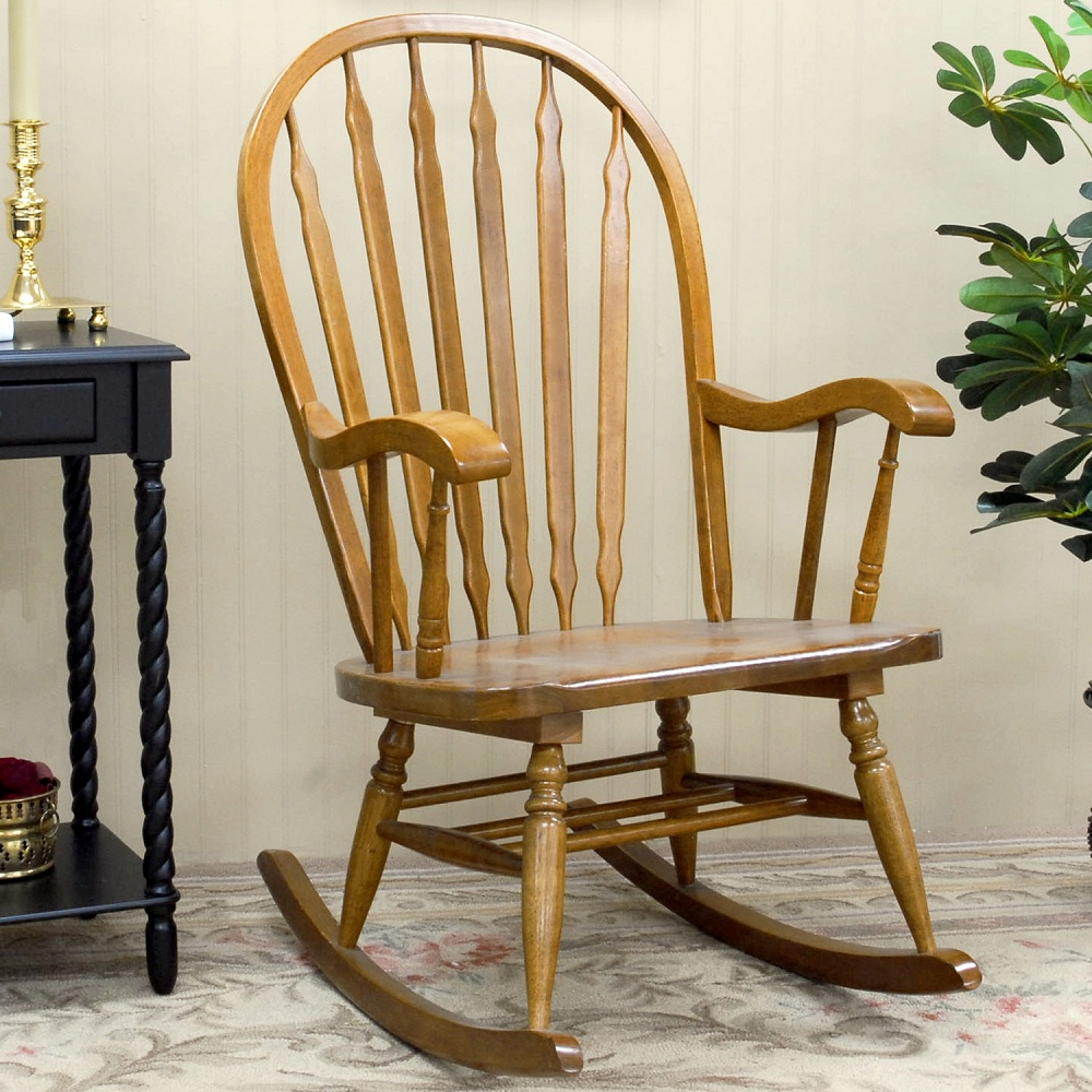 Image of: Simple Mission Style Rocking Chair