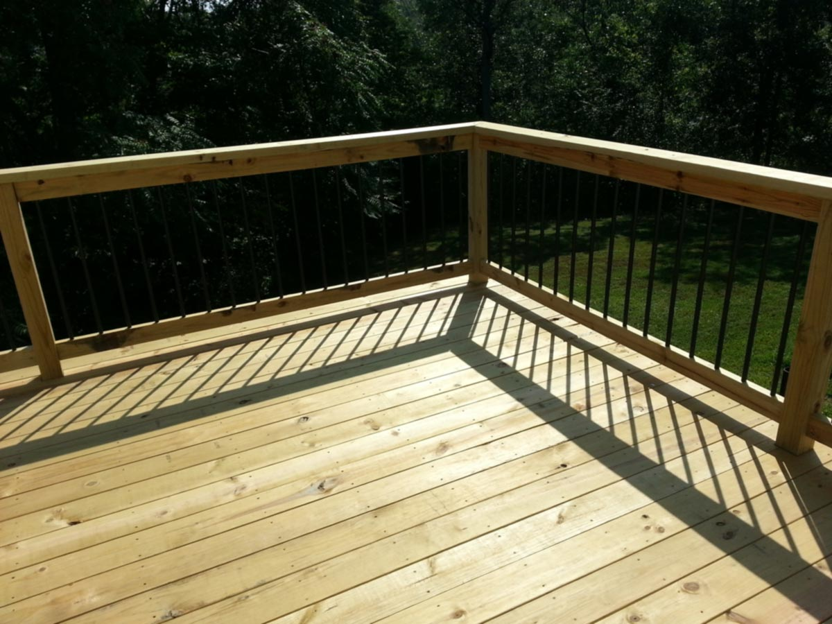 Image of: Simple Pressure Treated Decking