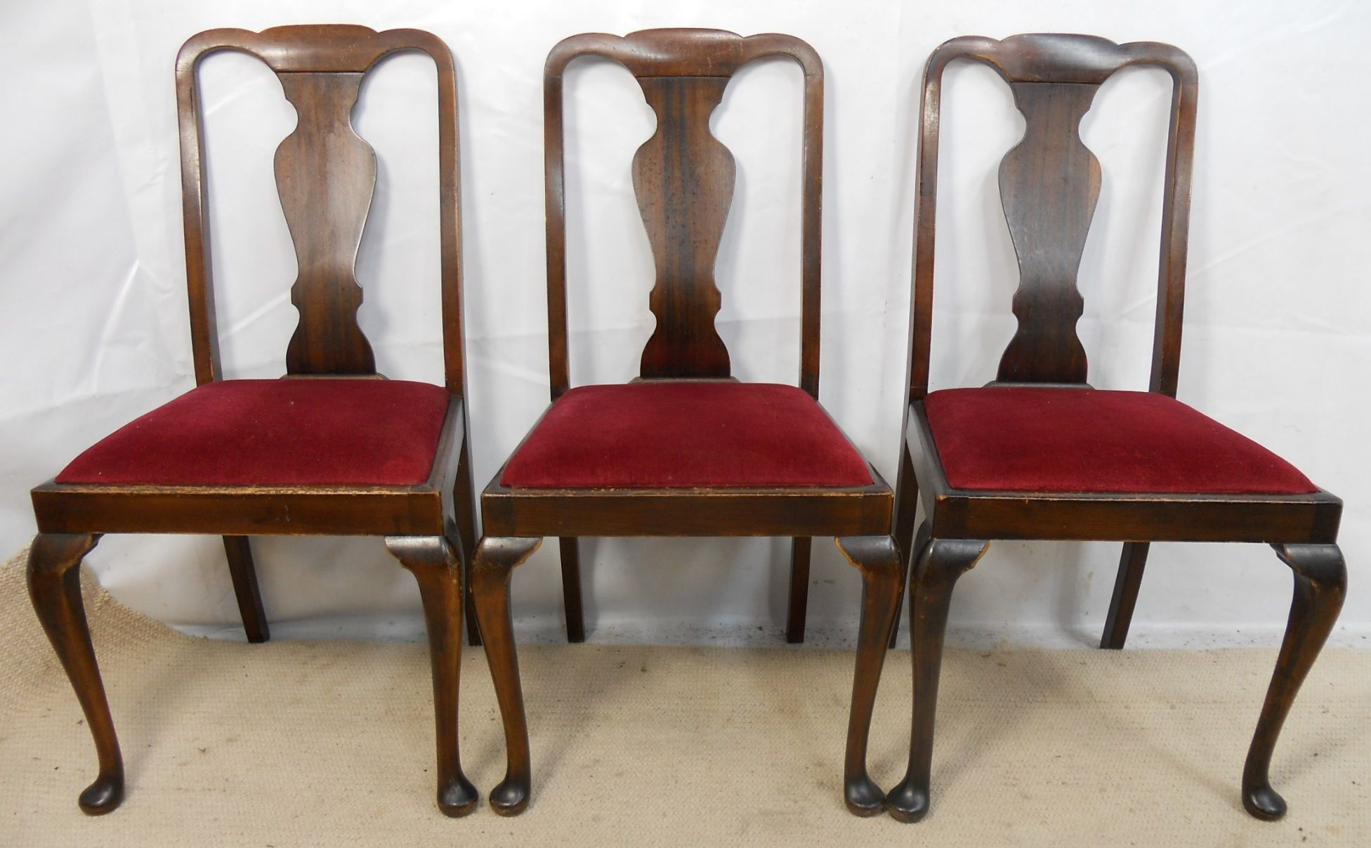 Image of: Simple Queen Anne Dining Chairs