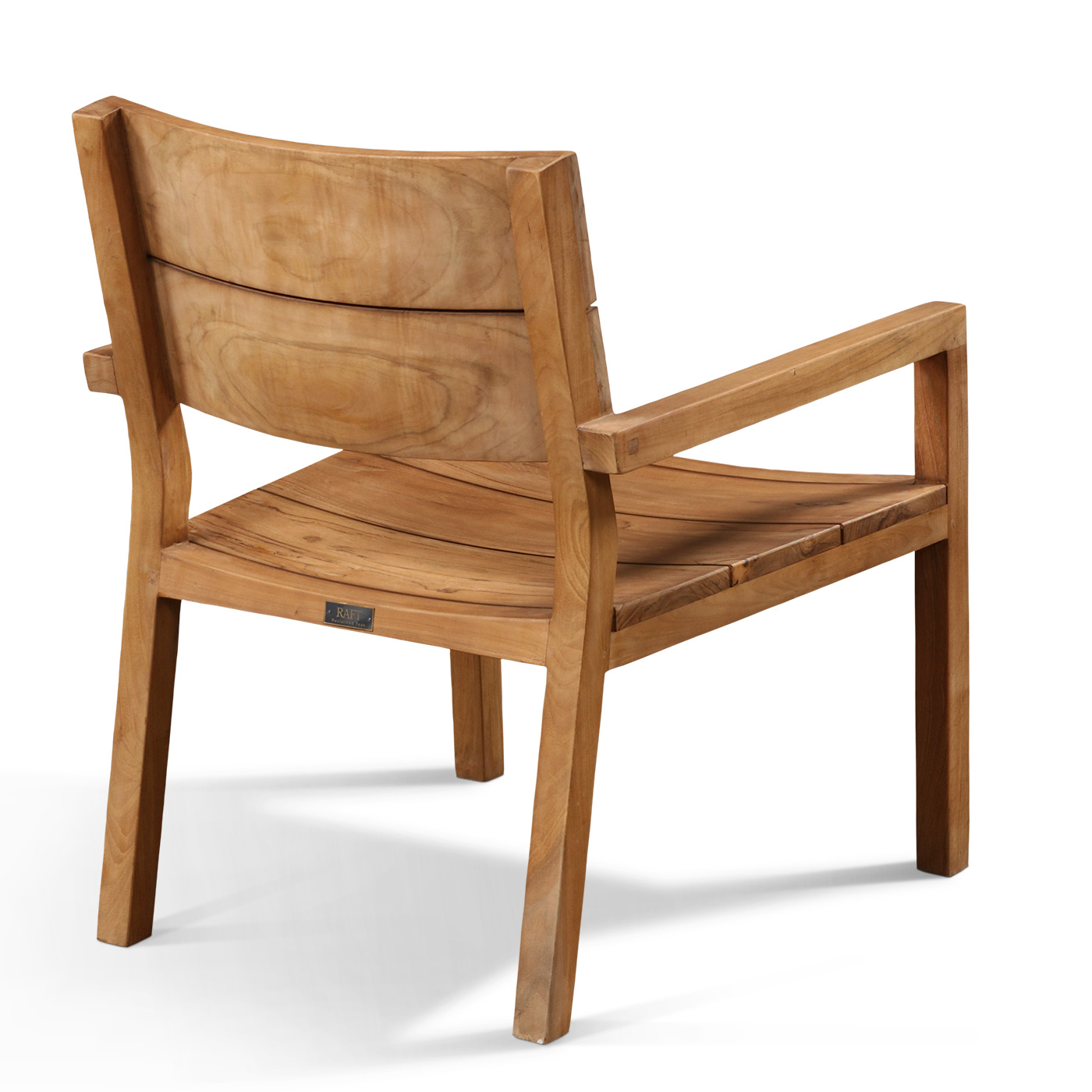 Image of: Simple Teak Lounge Chair