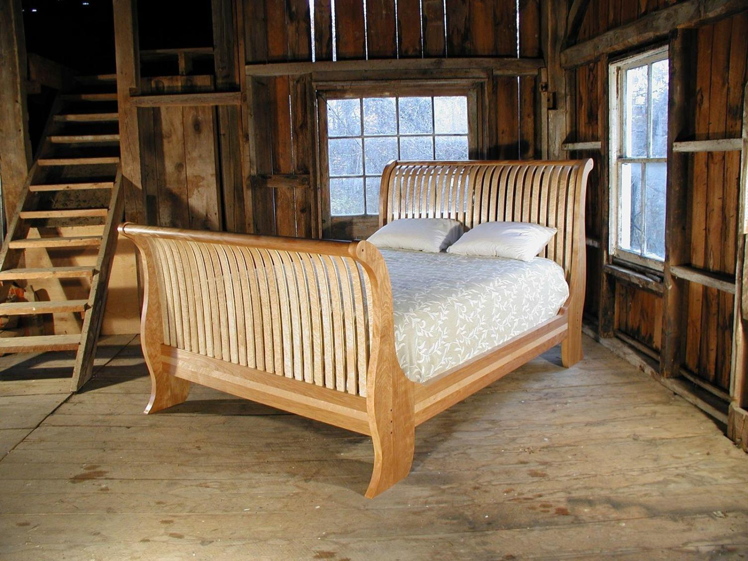 Image of: Sleigh Bed Frame King