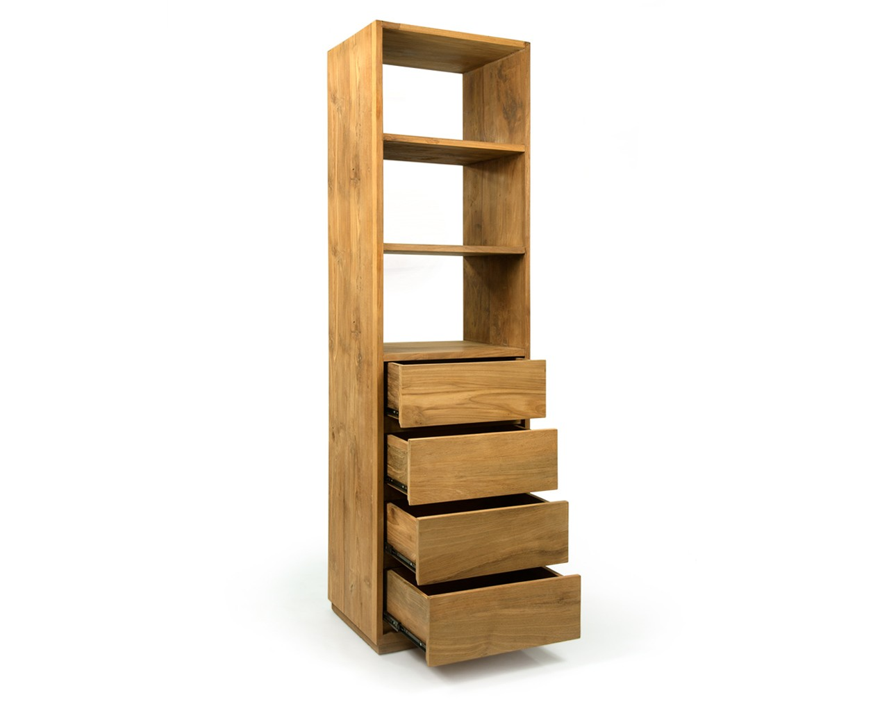 Image of: Slim Bookcase Drawers