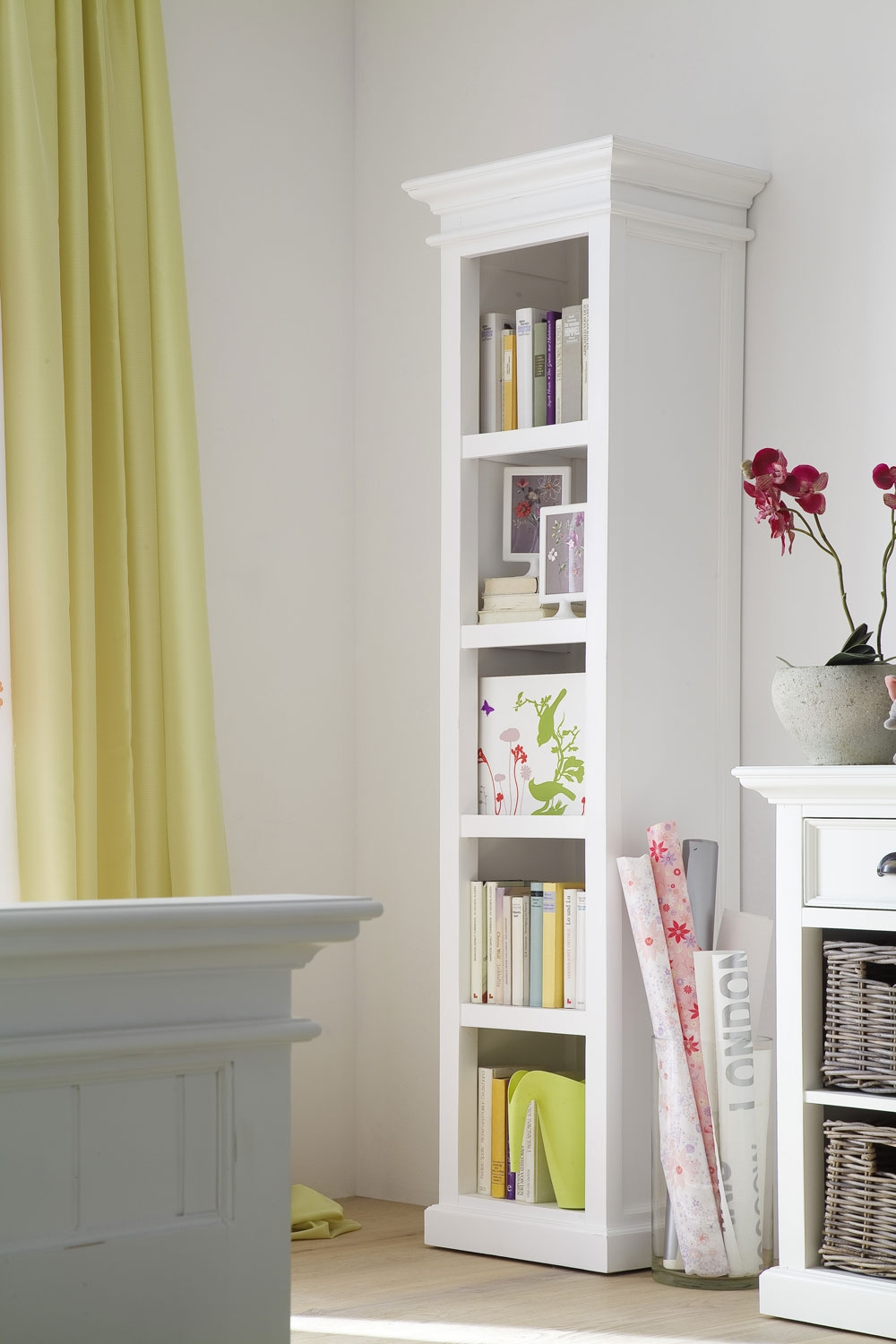 Slim Bookcase White