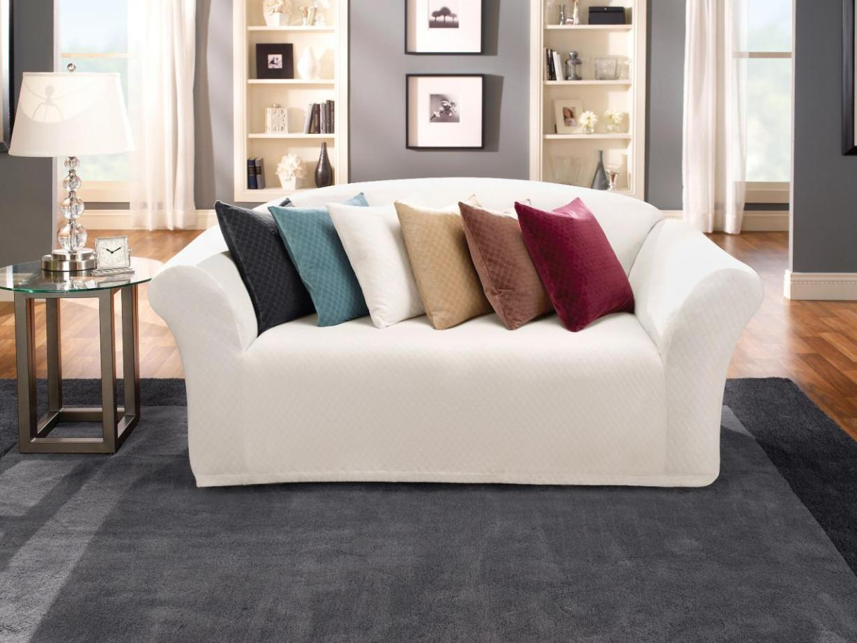 Image of: Slipcover Sofa With Chaise