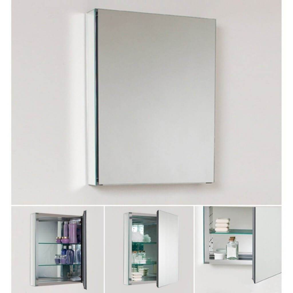 Image of: Small Bathroom Mirrors Cabinet