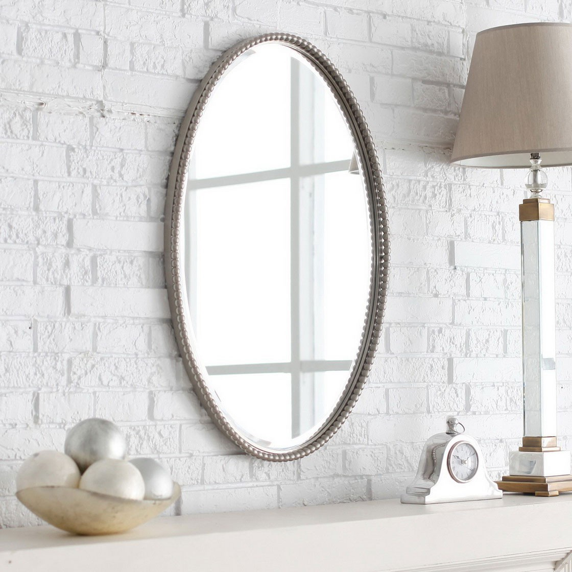 Image of: Small Bathroom Mirrors Oval