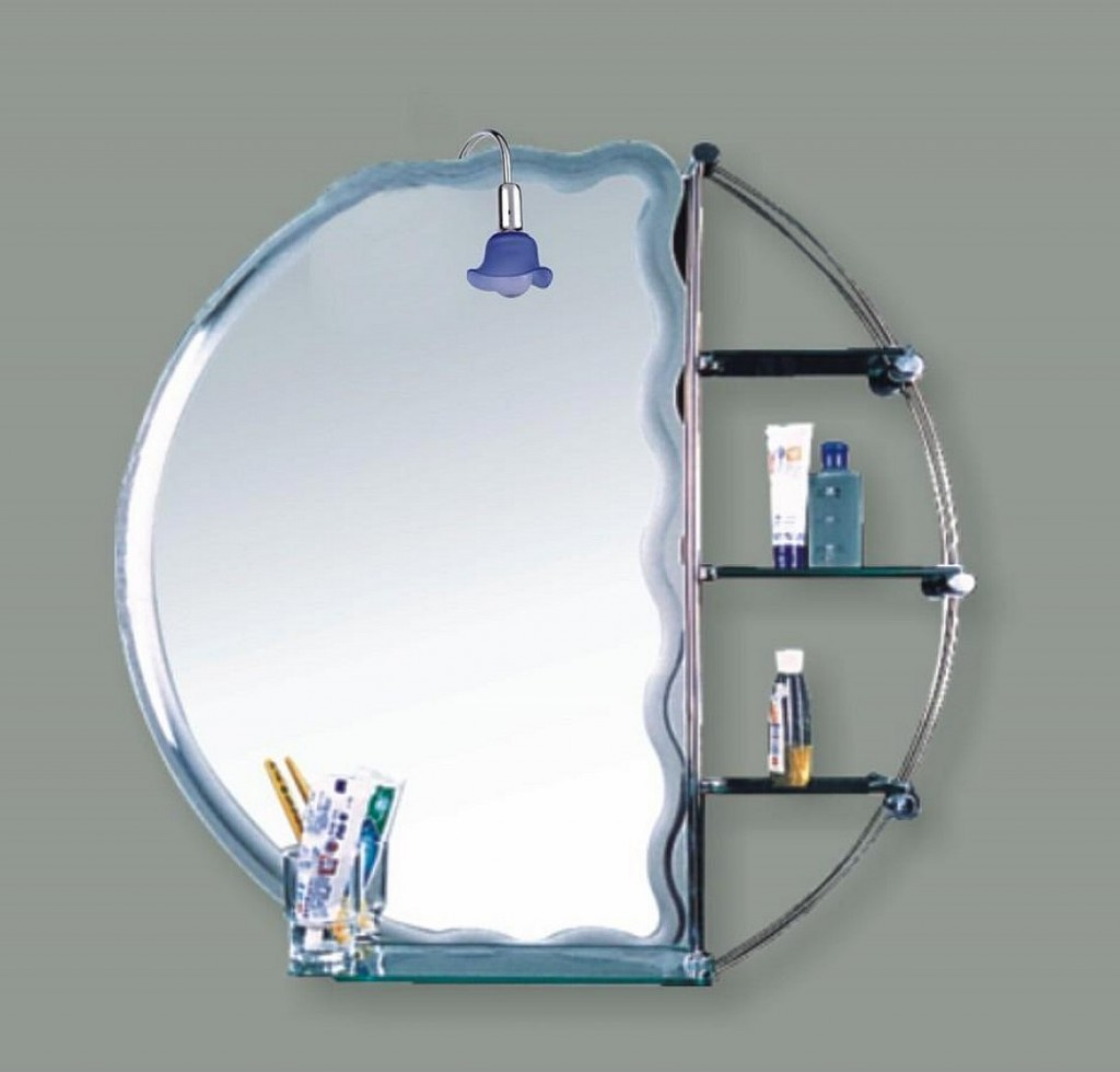 Image of: Small Bathroom Mirrors Storage
