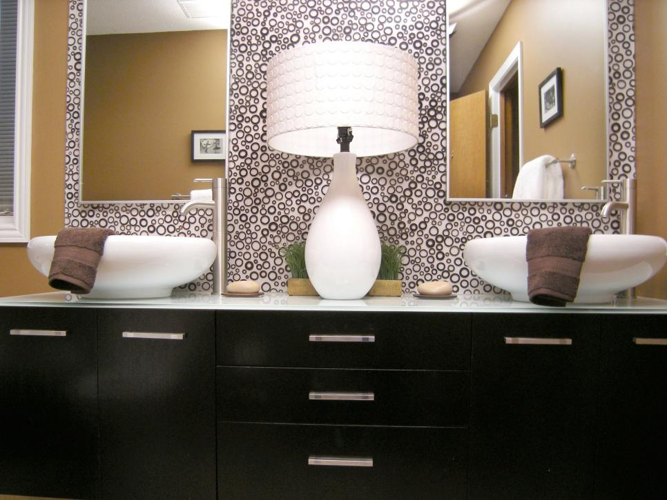 Image of: Small Bathroom Mirrors Twin