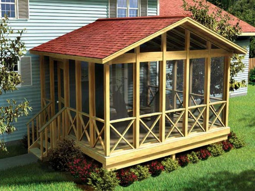 Image of: Small Covered Deck Designs