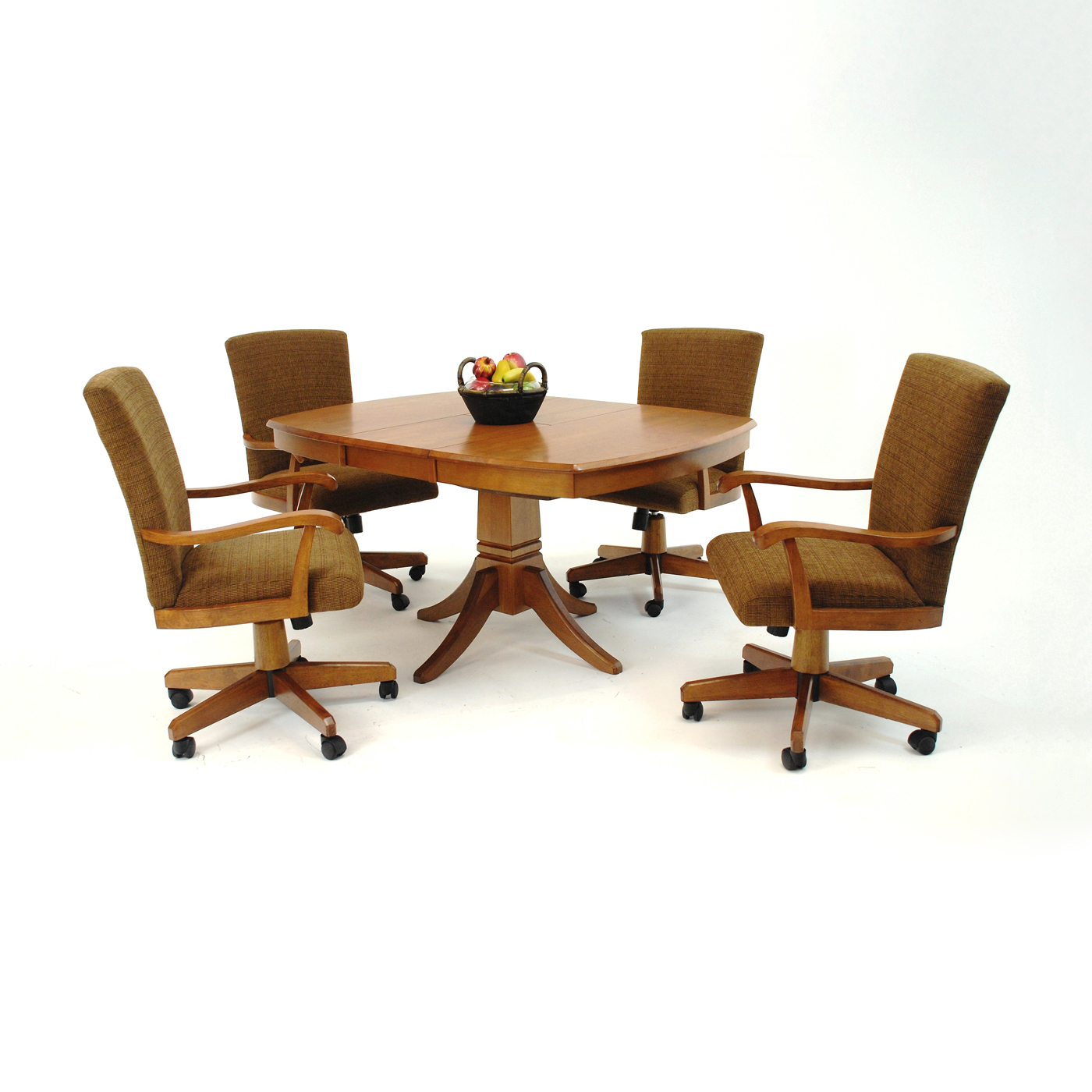 Image of: Small Dining Room Chairs With Casters