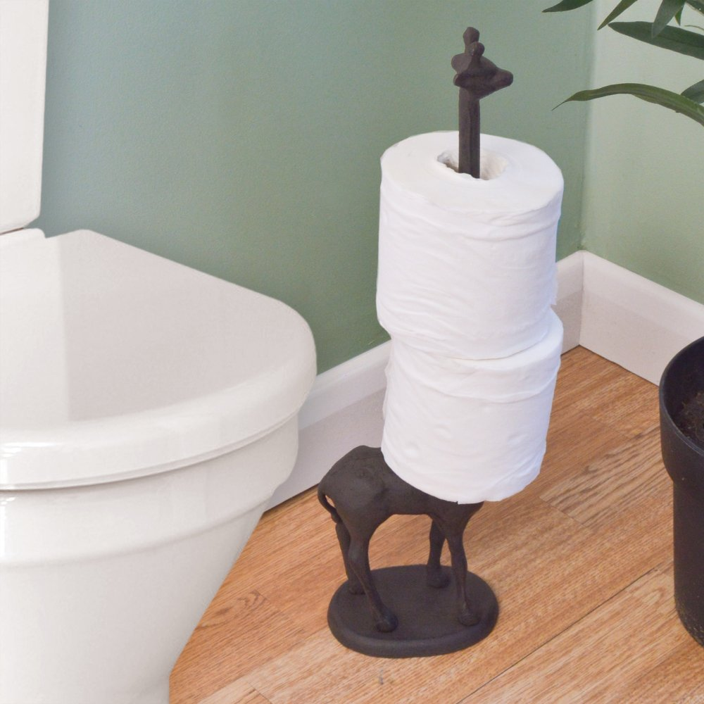 small free standing toilet paper holder
