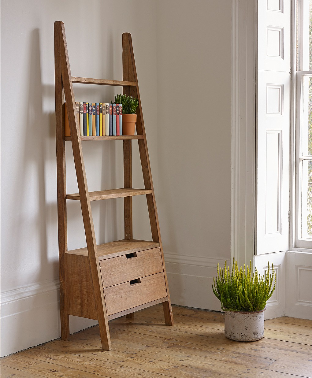 Image of: Small Ladder Bookcase