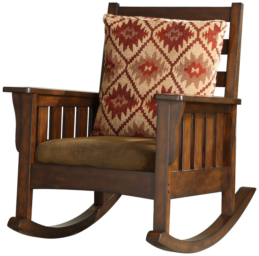 Image of: Small Mission Style Rocking Chair