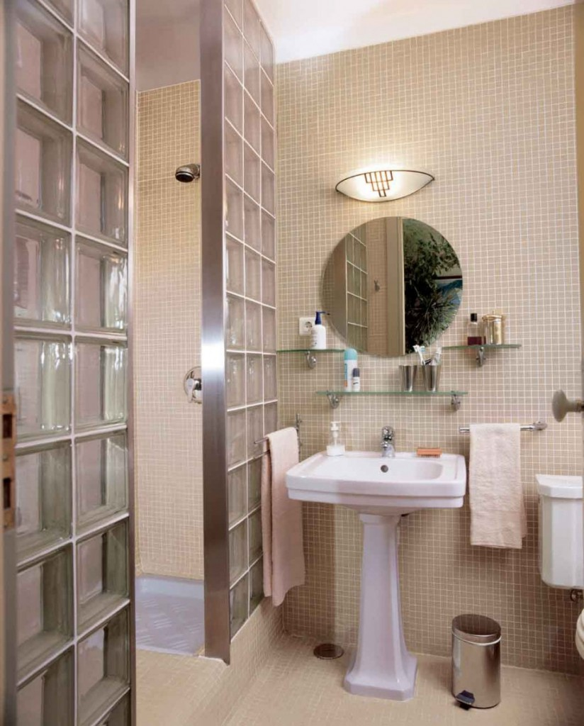 Image of: Small Round Bathroom Mirrors