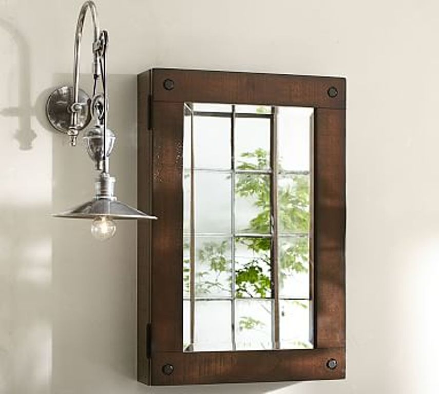 Image of: Small Rustic Bathroom Mirrors